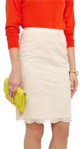 Tory Burch Lace Pencil Skirt Ivory