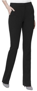 White House | Black Market Date Night Night Out Trouser Straight Pants Black