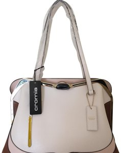Cromia Satchel in brown and cream