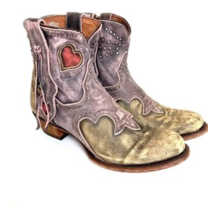 Dan Post Boots Cowboy Cowgirl Distressed Embellished Purple Yellow Pink Boots