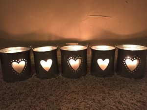 Silver Candle Holders/ Aisle Reception Decoration