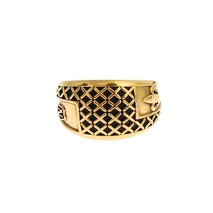Gold D19044-2 Plated 925 Silver Ring (Eu 60 / Us 10) Men's Jewelry/Accessory