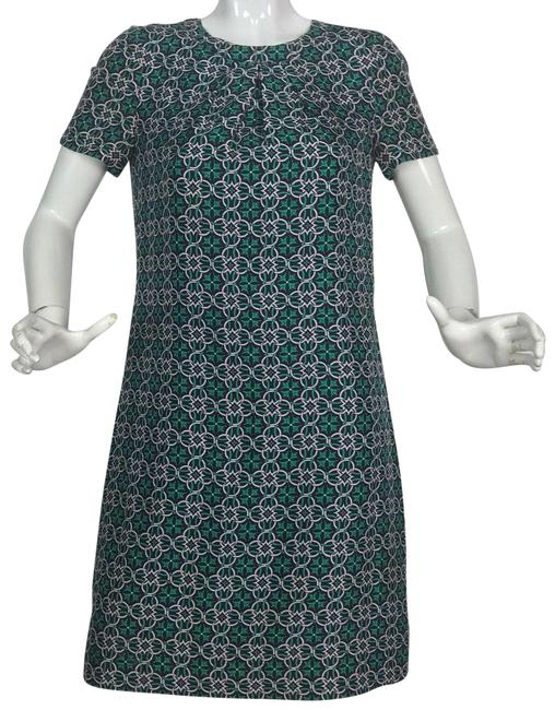 Item - Multi-color Tunic Shift Geometric Sleeves Open Back Short Casual Dress Size 4 (S)