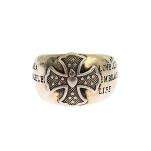 Silver D19147-1 Crest 925 Sterling Ring (Eu 58 / Us 9) Men's Jewelry/Accessory