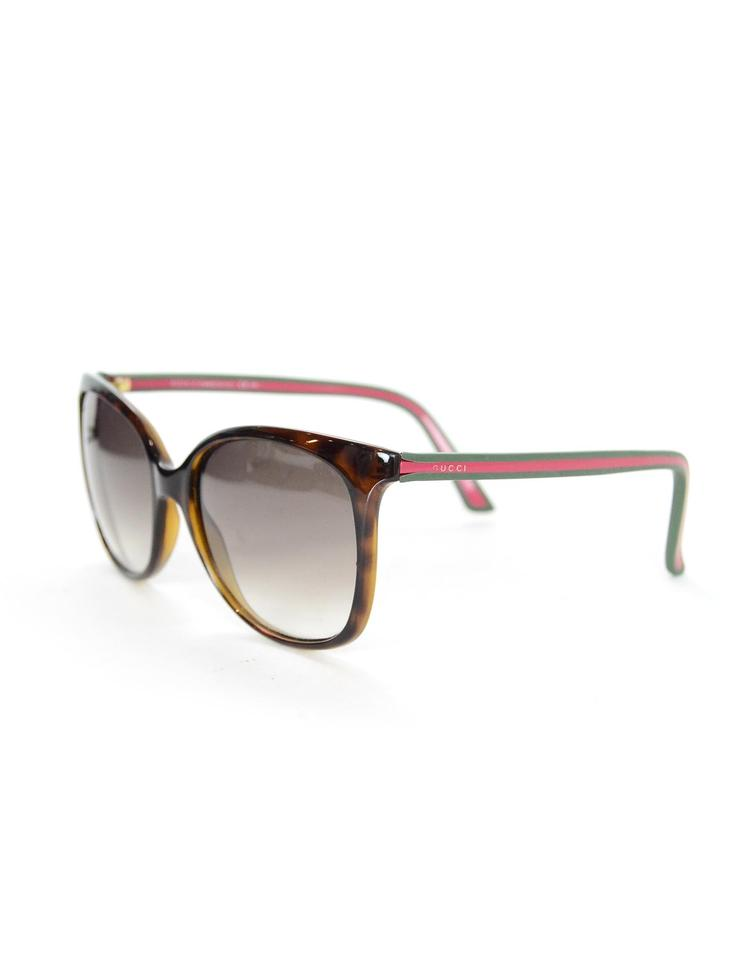 b2c194df7b3 Gucci Brown Red Green Gg 3649 S 51n Yr W  Web Arms Sunglasses - Tradesy