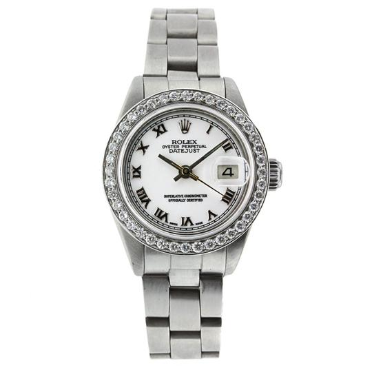 Preload https://img-static.tradesy.com/item/24195687/rolex-stainless-steel-datejust-lady-26mm-diamond-bezel-69160-watch-0-0-540-540.jpg