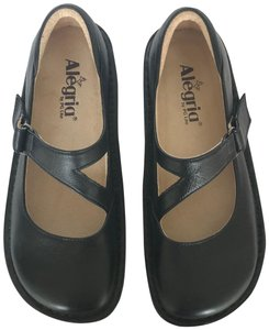 e7bdc8f3579e Alegria by PG Lite Dayna Mary Jane Professional Comfortable Black Mules