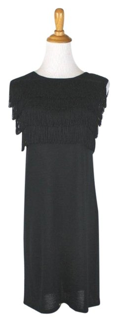 Preload https://img-static.tradesy.com/item/24195851/paul-and-joe-black-sister-fringed-wool-knit-short-cocktail-dress-size-2-xs-0-1-650-650.jpg