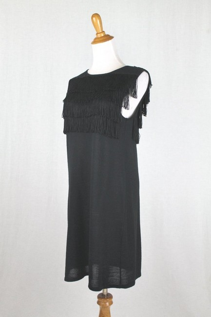Paul & Joe Flapper Sweater Shift Shift Fringed Dress Image 2