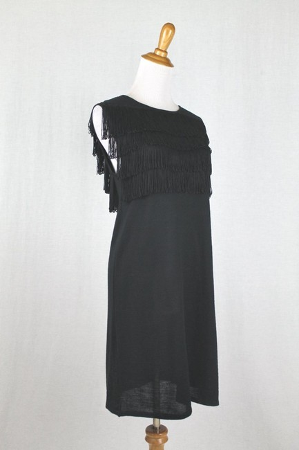 Paul & Joe Flapper Sweater Shift Shift Fringed Dress Image 3