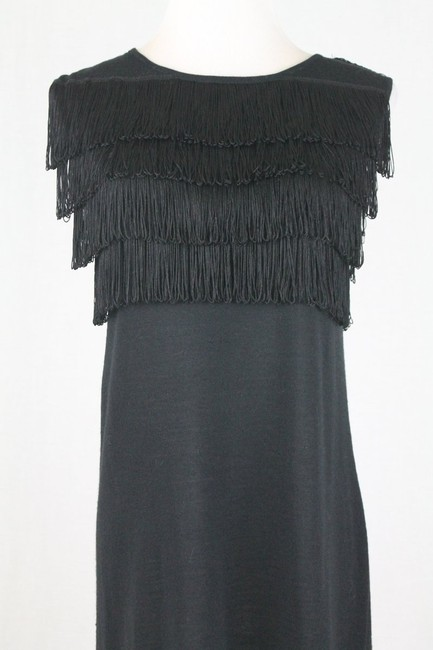Paul & Joe Flapper Sweater Shift Shift Fringed Dress Image 5