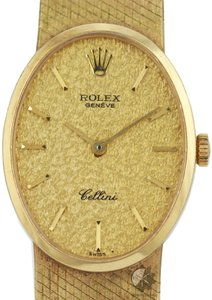 Rolex Vintage Authentic Rolex Lady Cellini Champagne Dial All Gold Watch