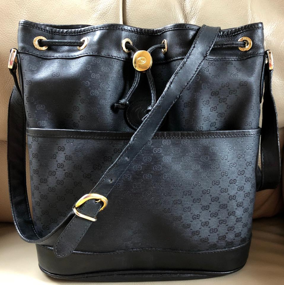 627d8117659061 Gucci Made In Italy Monogram Leather Guccissima Shoulder Bag Image 0 ...