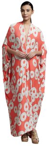 Orange Red White Maxi Dress by Rachel Pally Caftan Boho V-neck Cut-out Maxi