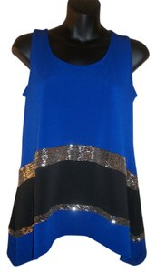 Alfani Top Black and Blue