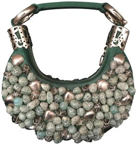 5e38449b1381 Chloé Handbag Beaded Handbag Handbag Green Clutch