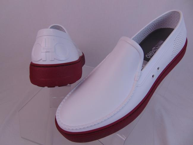 Item - White Fury 2 Off Rubber Logo Gancini Print Loafers 11 M Shoes