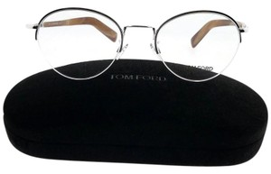 Tom Ford FT533-018-50 Round Unisex Silver Frame With Clear Lens Eyeglasses