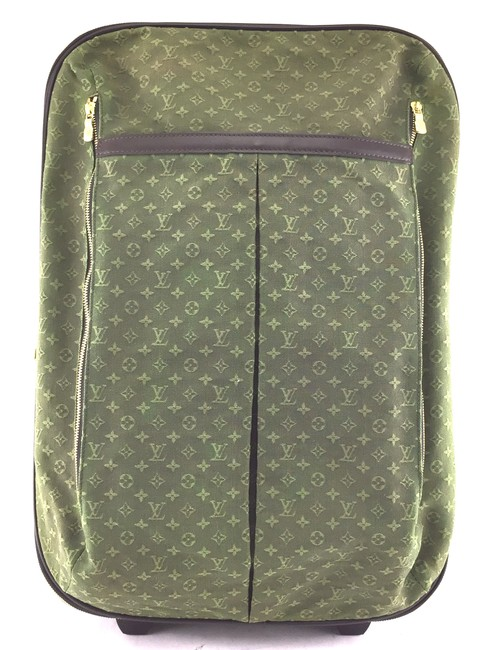 Item - #23069 Pegase 55 Roller Luggage Suitcase Carry On Green Mini Lin Idylle Monogram Canvas Weekend/Travel Bag