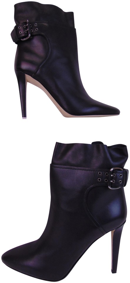 c1dc755bc581 Jimmy Choo Black Major 100 Leather Buckle Ankle Pumps 9 Italy Boots Booties.  Size  EU ...
