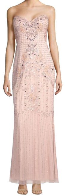 Item - Blush Beaded Gown Long Formal Dress Size 10 (M)