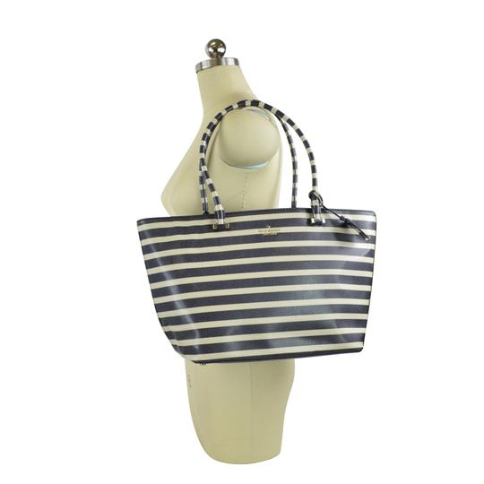 Kate Spade Stripped Cedar Street Harmony Tote in Offshore Blue Image 1