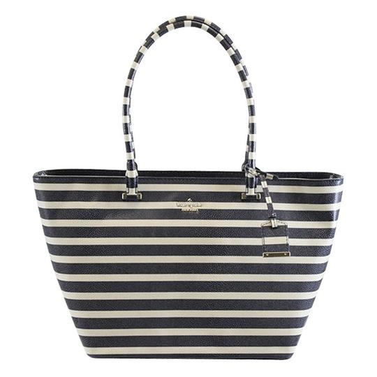 Kate Spade Stripped Cedar Street Harmony Tote in Offshore Blue Image 2