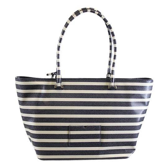 Kate Spade Stripped Cedar Street Harmony Tote in Offshore Blue Image 3
