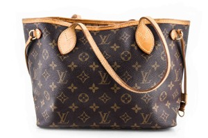 Louis Vuitton Leather Tote in Brown