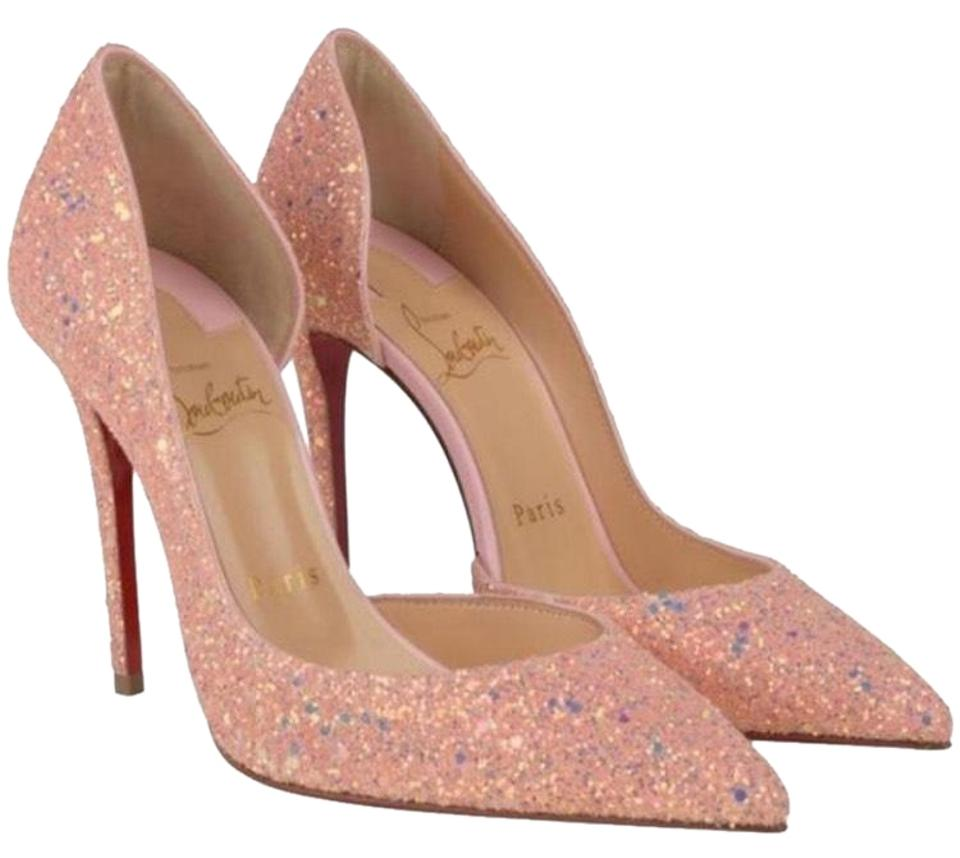 finest selection a6f79 7f591 Christian Louboutin Pink Iriza Pompadour Glitter Dragonfly Stiletto Pumps  Size EU 37 (Approx. US 7) Regular (M, B) 20% off retail