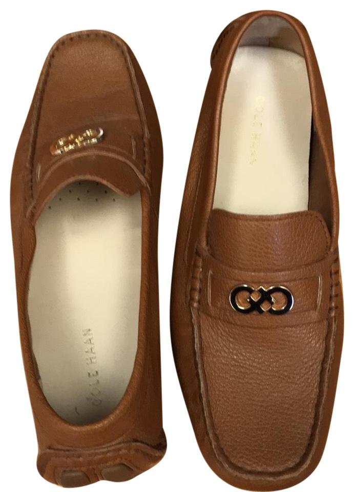 b52cad40a17fc Tan Leather Loafers Flats