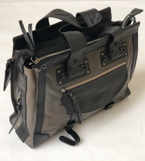 Chloé Vintage Leather Classic Satchel in Black and Brown Image 1