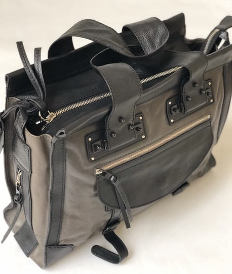 Chloé Vintage Leather Classic Satchel in Black and Brown Image 3
