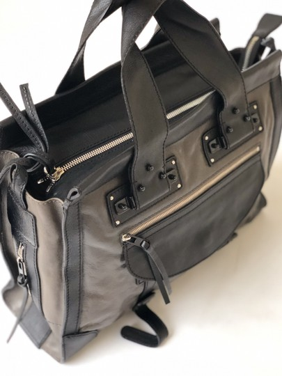 Chloé Vintage Leather Classic Satchel in Black and Brown Image 5