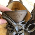 Buscemi Leather Fringe Sneaker Lace Up Lock Gray Athletic Image 4