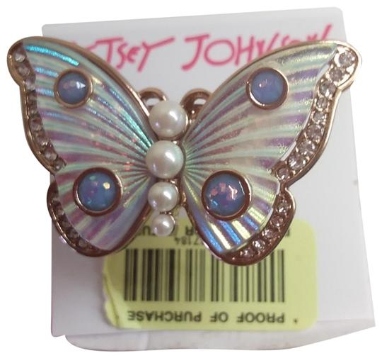 Betsey Johnson Betsey Johnson New White Butterfly Ring Image 0