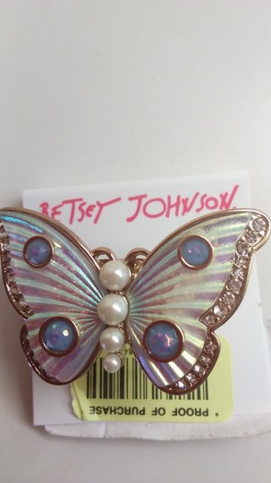 Betsey Johnson Betsey Johnson New White Butterfly Ring Image 1
