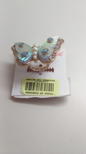 Betsey Johnson Betsey Johnson New White Butterfly Ring Image 2