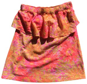 Lilly Pulitzer Top Neon Orange and Hot Pink