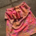 Lilly Pulitzer Top Neon Orange and Hot Pink Image 1