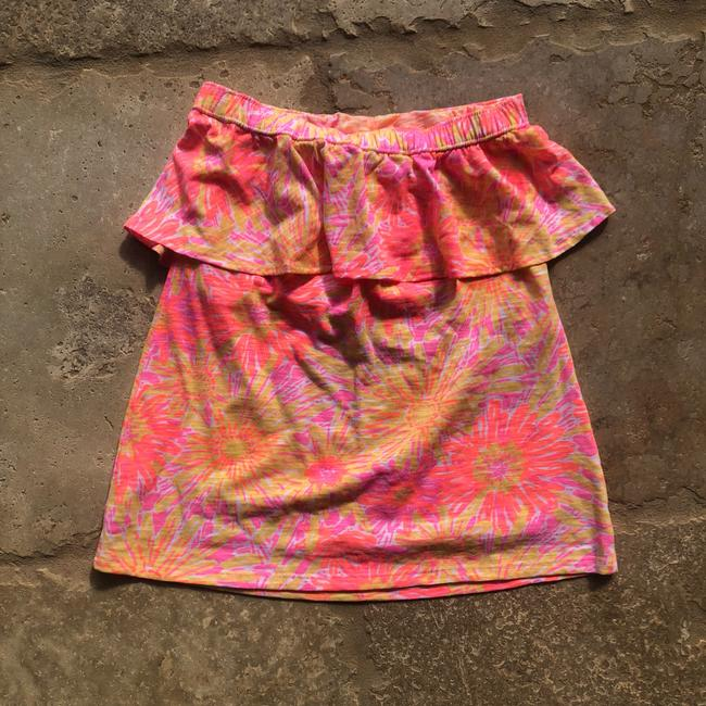 Lilly Pulitzer Top Neon Orange and Hot Pink Image 3