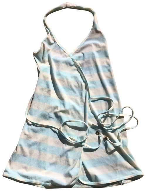 Item - Blue and White Striped Halter Aqua Sky Dress Cover-up/Sarong Size 2 (XS)