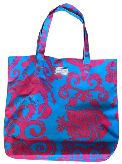 Preload https://img-static.tradesy.com/item/24197602/lilly-pulitzer-for-estee-lauder-turquoise-and-fushia-nylon-tote-0-1-540-540.jpg