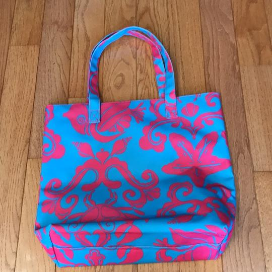 Lilly Pulitzer Tote in turquoise and fushia Image 4