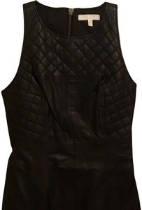 Walter by Walter Baker Leather Quilted Chic Sleeveless Dress