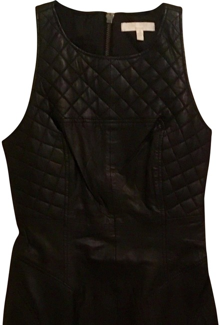 Walter by Walter Baker Leather Quilted Chic Sleeveless Dress Image 1