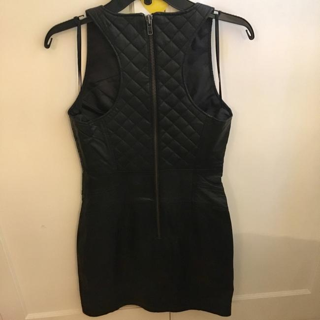 Walter by Walter Baker Leather Quilted Chic Sleeveless Dress Image 3