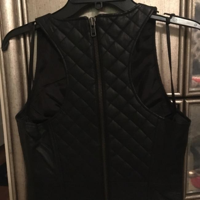 Walter by Walter Baker Leather Quilted Chic Sleeveless Dress Image 4