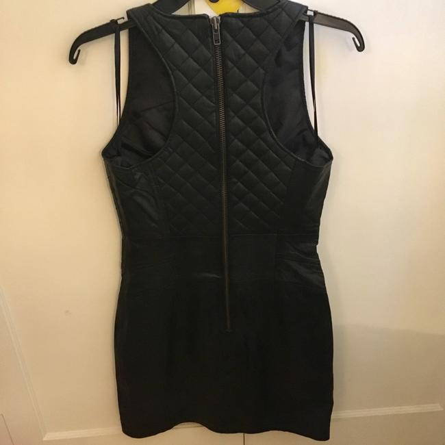 Walter by Walter Baker Leather Quilted Chic Sleeveless Dress Image 6