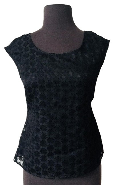 Preload https://img-static.tradesy.com/item/24197713/ann-taylor-black-crotchet-mrsp-blouse-size-0-xs-0-1-650-650.jpg